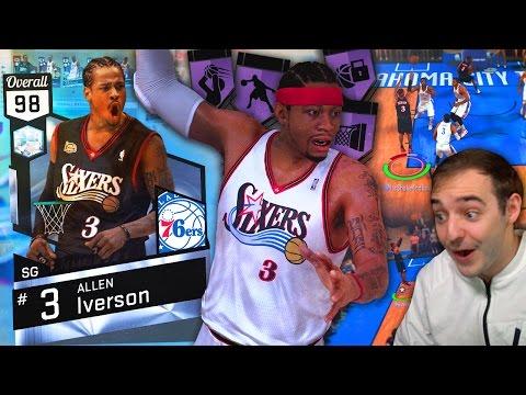 NBA 2K17 My Team DIAMOND ALLEN IVERSON IS UNSTOPPABLE! GREEN LIGHTS POSTER MACHINE!