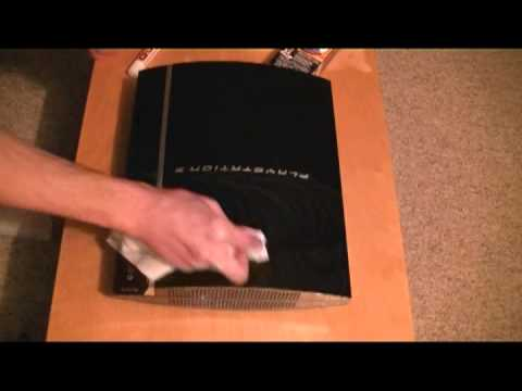 how to remove scratchs from your glossy black plastic consoles youtube. Black Bedroom Furniture Sets. Home Design Ideas