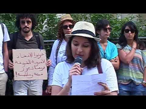 Manifestation à Paris le 3 /8/13, Paris pour dénoncer la grâce royale accordée au pédophile