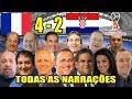 Todas As Narrações França 4 X 2 Croácia França Bicampeã Do Mundo mp3