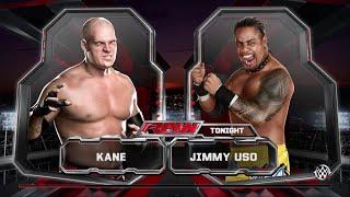 WWE 2K15 Kane vs Jimmy Uso Normal Match 2015 (PS4) HD