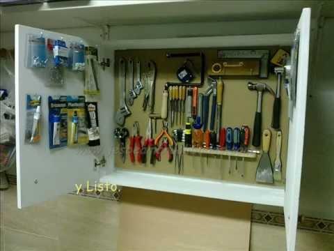 Armario para herramientas youtube for Diseno de muebles para herramientas
