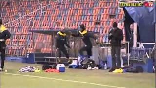 Zlatan Ibrahimovic is kicking Christian Wilhelmsson in Sweden training.flv