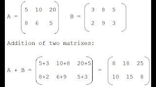 Sums of Matrices 2 (Part-V) Full Tutorial in Hindi Sum of Matrix 2