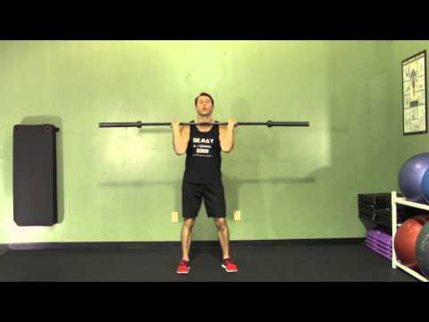 Barbell Power Clean and Jerk from Floor - HASfit Olympic Exercise - Olympic Lift Form Image 1