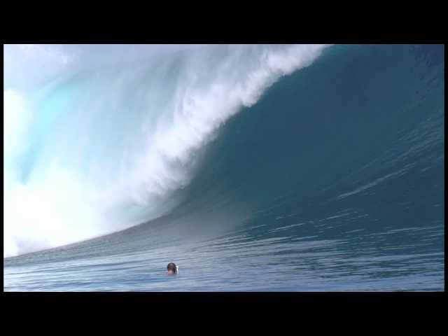 Kohl Christensen at Cloudbreak - Ride of the Year entry in the 2010 Billabong XXL Big Wave Awards