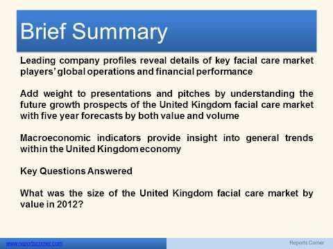 Facial Care in the United Kingdom - Reports Corner