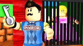 Roblox - HELLO NEIGHBOR - SECRET GIRL PRISONER?!