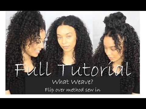 Flip Over Method / Versatile Sew in Tutorial | Most Natural Weave Ever!