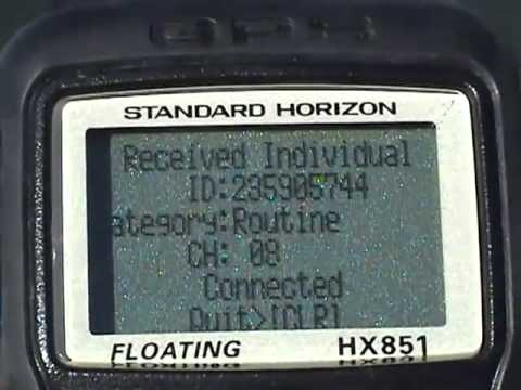 HX851E Standard Horizon Berbarur VHF vi DSC & GPS