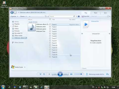 How to Rip Audio CD with Windows Media Player