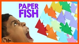 Kids Origami- Paper Fish Making- Fun Time With Paper Fish | #voomkids