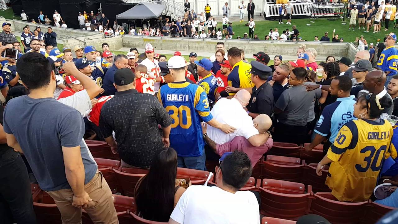 The Fists Are Flaming Between Rams And KC Fans