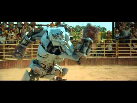 real steel - ambush vs black thunder (poor robot defeated by a bull)