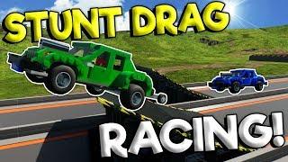 INSANE LEGO DRAG STUNT RACING! - Brick Rigs Multiplayer - Lego City Toy Race