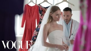 Kate Bosworth Sees Her Oscar de la Renta Wedding Dress for the Very First Time - Vogue Weddings