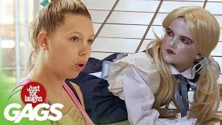 Creepy Doll Comes To Life - Just For Laughs Gags