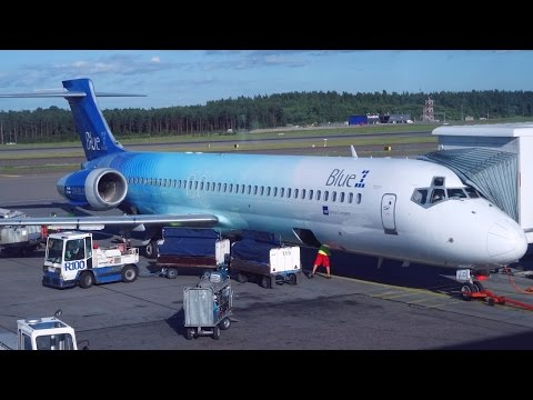 Last Flight on Blue 1 Boeing 717 Stockholm - Helsinki (OH-BLO)