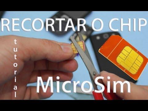 Como Cortar um Chip Para Que Vire um MicroSIM (MicroSim. NanoSim)
