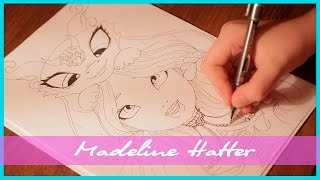 Рисуем Ever After High Madeline Hatter (Меделин Хеттер)