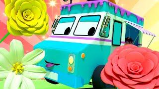 Foire aux fleurs - Apprendre avec Tiny trucks 👶 🚚 Dessin animé éducatif pour enfants