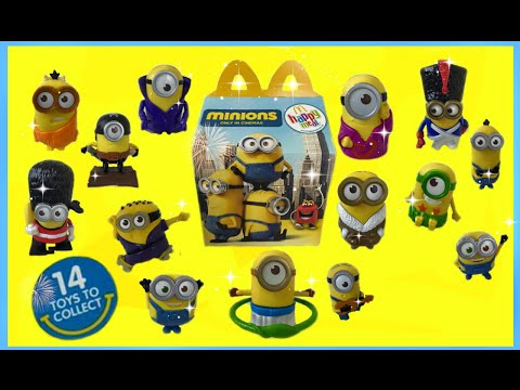 2015 MINIONS Complete Set of 14 McDonald's Happy Meal Toys