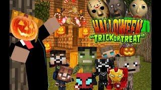 Monster School : AVENGER BABIES (HALLOWEEN Trick OR Treat) - Minecraft Animatio