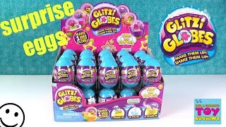 Glitzi Globes Surprise Eggs Snow Globe DIY Arts & Crafts Opening | PSToyReviews