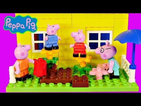 Peppa Pig 107 Mega Blocks Construction House Peppa's Building Bloks Toy by DCTC