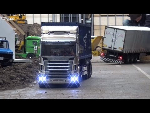 Dumper Crash Truck Fail Unfall RC Construction Site Baustelle LKW ♦ Treffpunkt Modellbau Paaren 2016