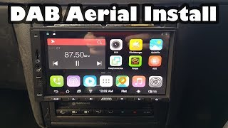 Installing DAB Radio including Aerial in a Volkswagen Golf - Project Shed - ATOTO