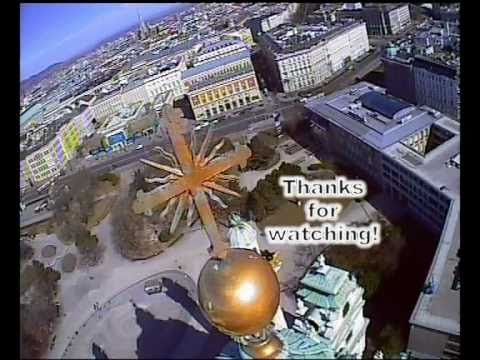 Vienna Karlskirche FPV, RAW No Cut Full Flight, FPV RC Helicopter Heli Onboard Camera Wien Air Fly