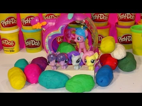 Play Doh Surprise Eggs, 12 My Little Pony Surprise Eggs , And 4 My Little Pony Fashems With Pinkie P video