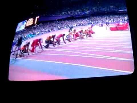 Usaint bolt run the 100 meter 2012 olympic
