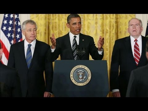 President Barack Obama wrapped up the announcement of his nominations for Secretary of Defense and CIA Director by saying his picks understand the consequenc...