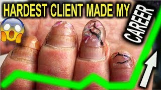 HARDEST CLIENT IN MY LIFE made THE LUCKY CHANCE IN MY CAREER | NAIL EXTENSIONS LIFE STORIES