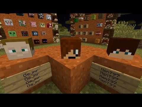 Minecraft Jak získat hlavu moba oblíbeného lets playera pouze v minecraftu