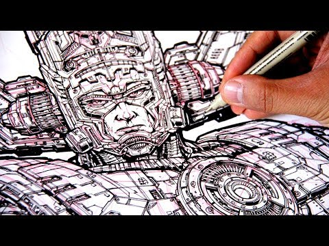 The most DETAILED DRAWING EVER (I think) of GALACTUS!