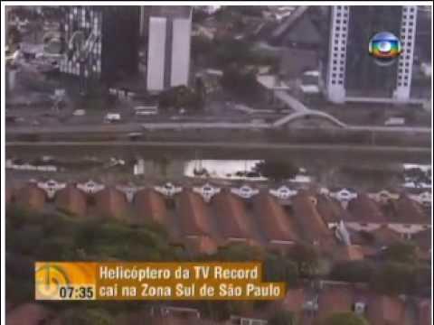 Helicoptero TV Record cai em São Paulo