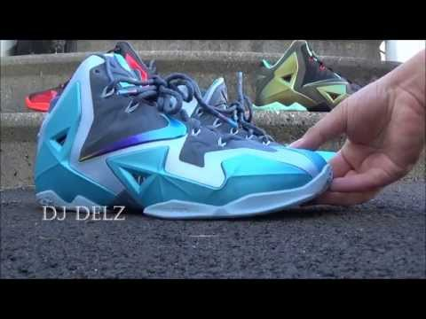 Nike Lebron 11 XI Gamma Blue Sneaker Review + On Feet With Dj Delz @DjDelz