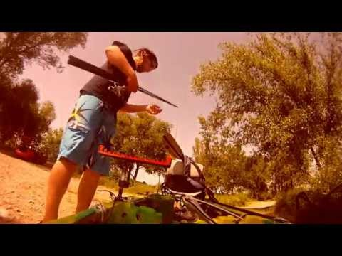 Match fishing for carp from a kayak