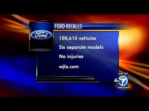 100,000 Ford vehicles being recalled for various problems