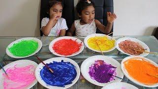 Funny Kids Learn Colors with Pinting Plate PreSchool Toddler Video | Rufi Ishfi