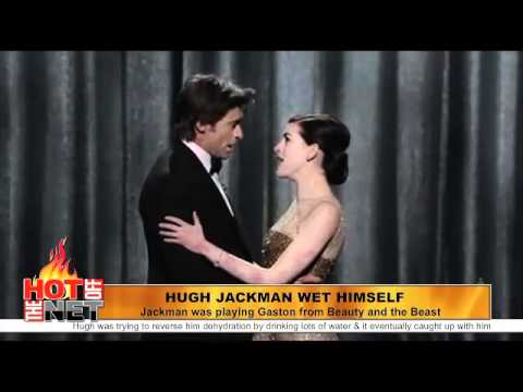 Watch a new Hot Off The Net daily at http://hotoff.mevio.com Years and years ago, Hugh Jackman played Gaston in the Broadway rendition of Beauty and the Beas...