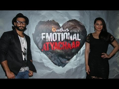 Sonakshi Sinha, Ranveer Singh Promote 'Lootera' On The Sets Of 'Emotional Atyachar'