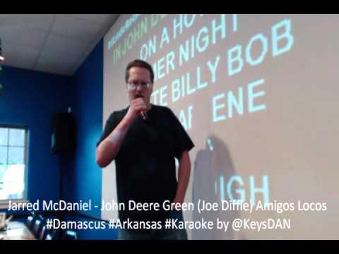 Jarred McDaniel   John Deere Green Joe Diffie Amigos Locos #Damascus #Arkansas #Karaoke by @KeysDAN