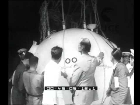 L'atterraggio dello sferico di Auguste Piccard presso Desenzano