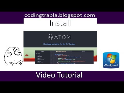 Install Atom hackable text editor on Windows 7