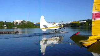 Kenora Air Service DHC-3 piston Otter CF-CBA is going for a ride around the bay.