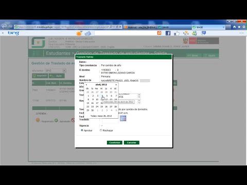 SIAGIE 3.0 TRASLADO DE ESTUDIANTES 2012